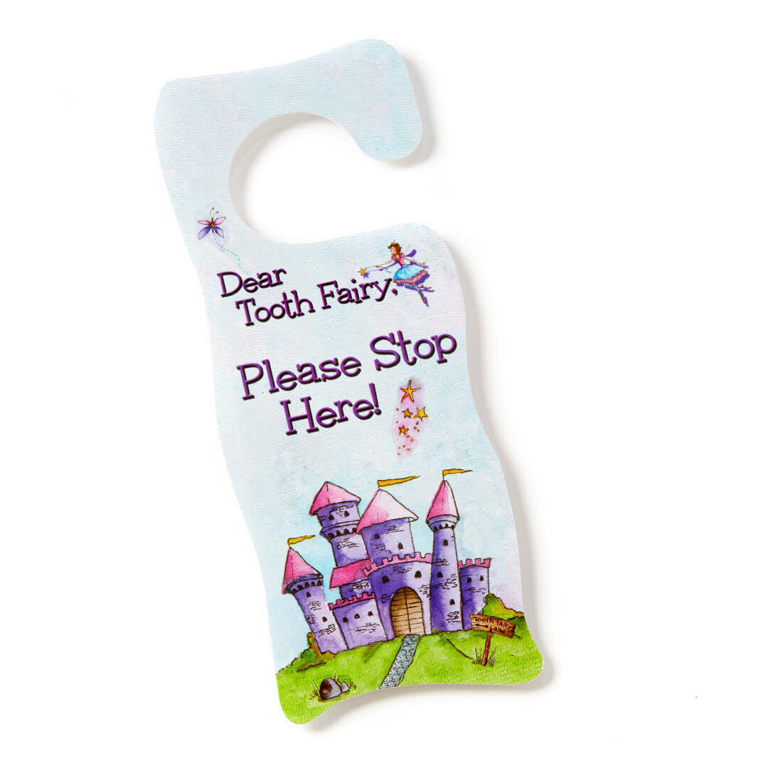Tooth Fairy Door Hanger - Fairy Pink