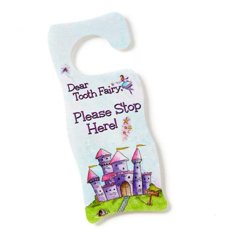 Tooth Fairy Door Hanger - Fairy Pink