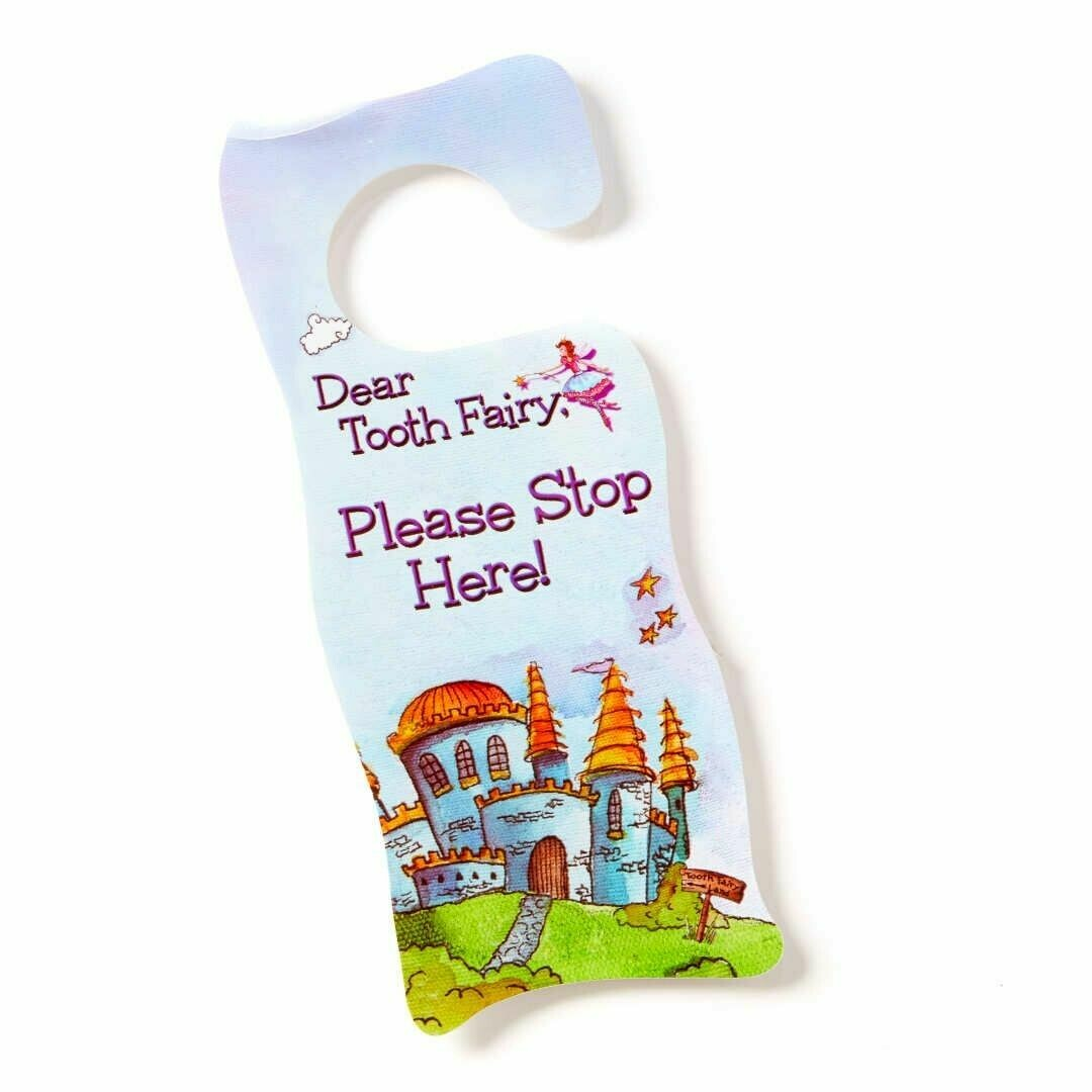 Tooth Fairy Door Hanger - Fairy Blue