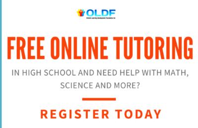 High School Tutoring – Free – Virtual
