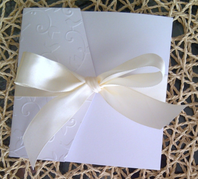 Embossed Birds and Vine Wedding / Special event invitation