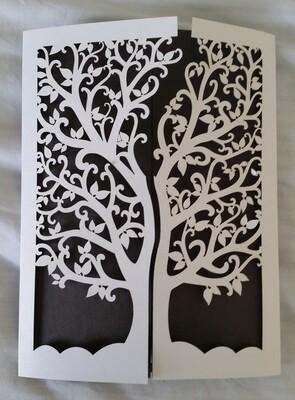 Tree of Life laser cut invitation