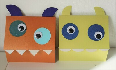 Monster childrens party invitations