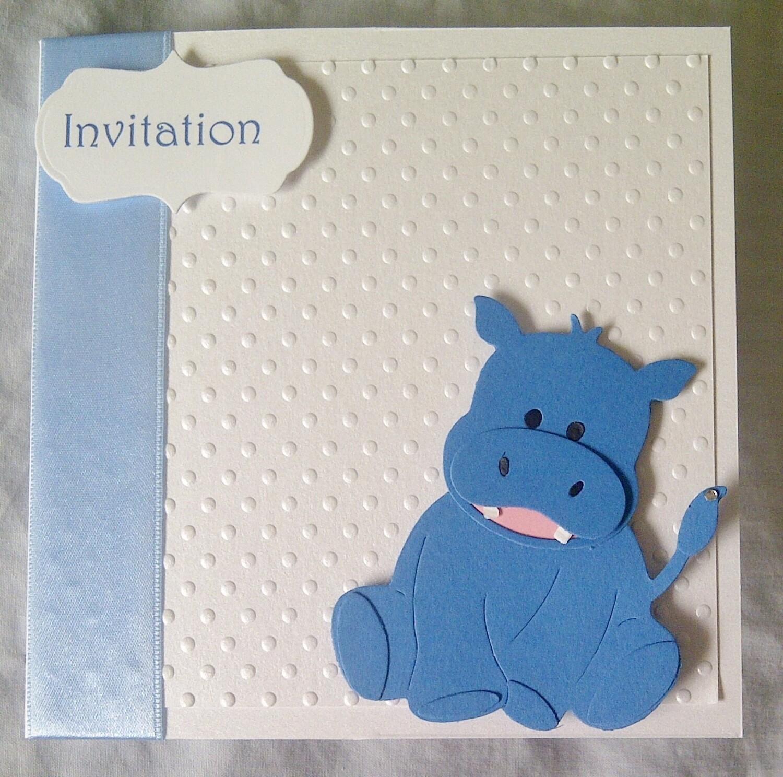 Cute blue Hippo card