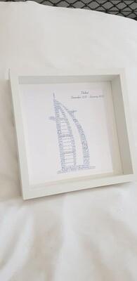 Burj Al Arab printed word art