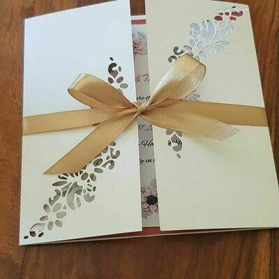 Pretty floral gatefold invitations card