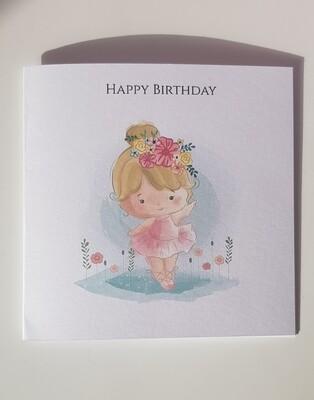 Pretty Ballerina Birthday card