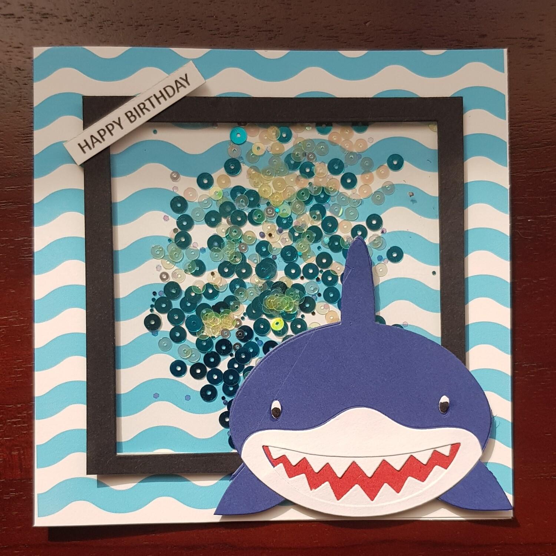 Daddy Shark shaker Card