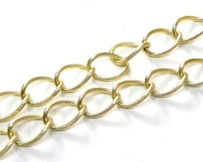 Ovale Twist effetto satinato: Oro e Silver
