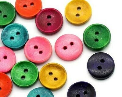 Bottoni di Legno colorato