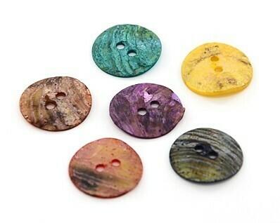Bottone Madreperla colorata