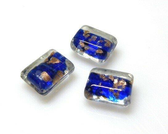Perle Bauletto 20x15x11 mm Blu - 4 pz