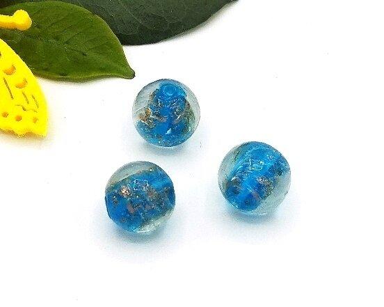 Perle in vetro Tondo Acqua 15 mm 4 Pz