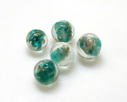 Perle in vetro Tondo 12 mm Cristallo Verde