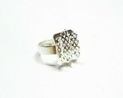 Base rettangolo per anello charms