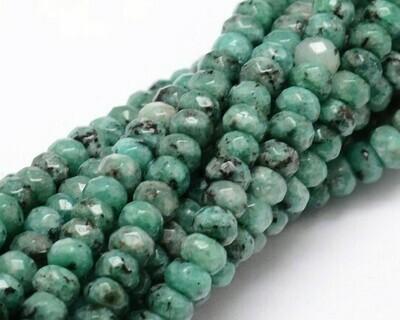 Giada abaco sfaccettato verde marmorino