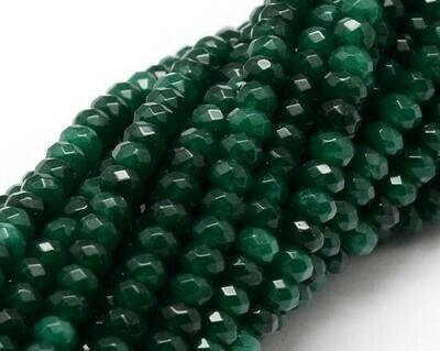 Giada abaco sfaccettata verde
