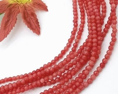 Pietre dure Agata Rosa Corallo 4 mm