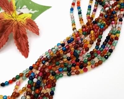 Pietre dure Agata Multicolor CC 4mm