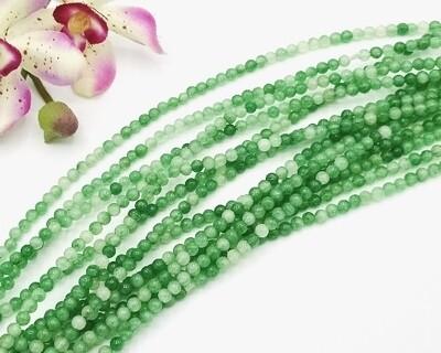 Pietre dure Agata Verde Chiaro Mix 4mm
