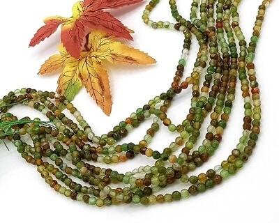 Pietre dure Agata verde bosco 4 mm