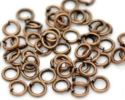 Anello liscio Rame 4-6-8 mm