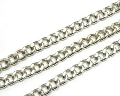 Catena Piatta 9x7,5 mm Silver 1 mt