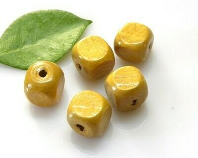 Cubetti di legno Senape13x13 mm