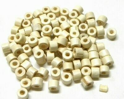 Rotelline di legno Bianco 6,5x3 mm