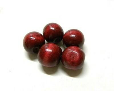 Perle di legno Rosso bruciato