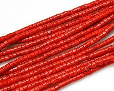 Rotelline di legno Rosso 4x5,5 mm