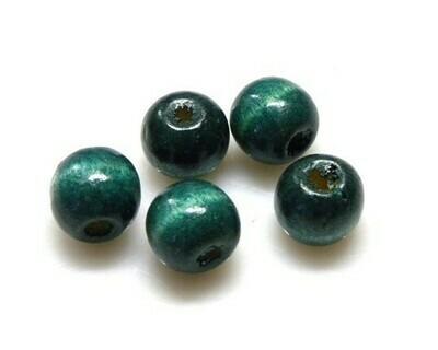 Perle di legno Verde marino