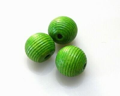 Perle di legno Verde mela 20 mm