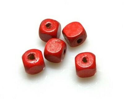 Cubettidi legno rosso 10x10 mm