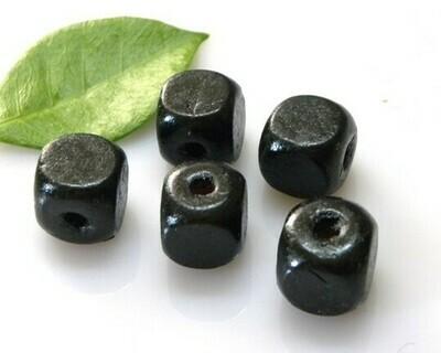 Cubetti di legno Nero 13x14 mm