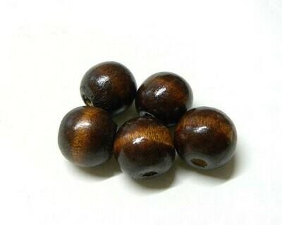 Perle di legno Marrone 14x15 mm