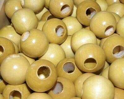 Perle di legno a foro largo 23,5x21 mm