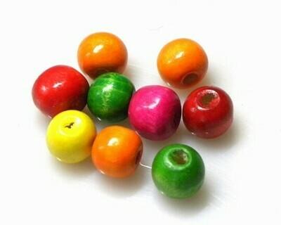 Perle di legno Mix color 10,5x12 mm