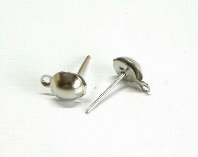 Perno con pallina e gancio 8 mm