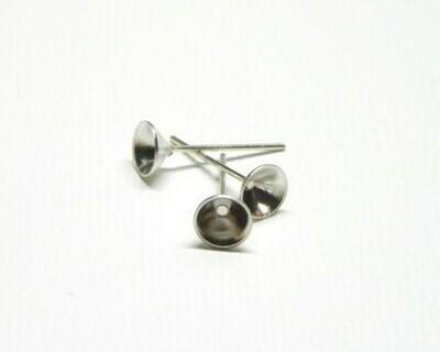 Perno a cono per orecchino 5x3,5x14,5 mm
