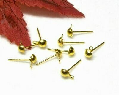 Perno con pallina e gancio 6 mm oro