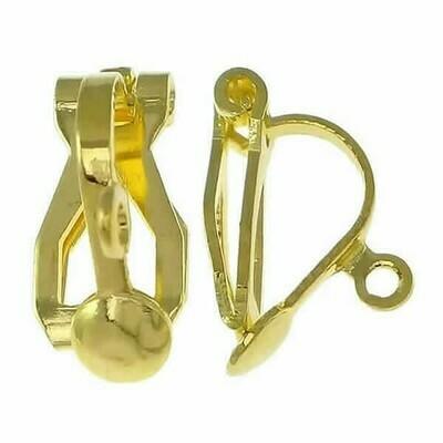 Base Clip con gancio per pendente oro-metal