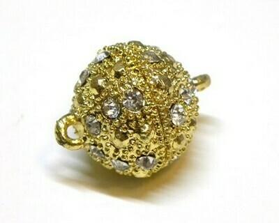 Calamita Strass Oro con anellini 10-12 mm