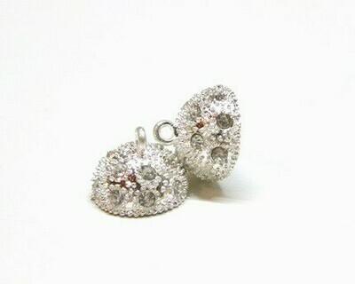 Calamita Strass con anelli Silver 10-16 mm
