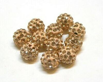 Perle con brillantini strass Pesca 5 pz