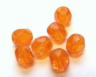 Cristalli ovali 4 mm Arancio