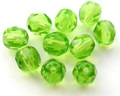 Cristalli ovali 4 mm Verde Acido