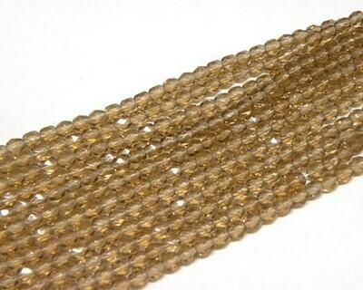 Cristalli ovali 4 mm Marrone  Bruciato