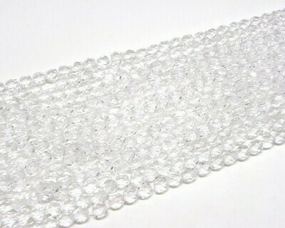 Cristalli ovali 4 mm Trasparente