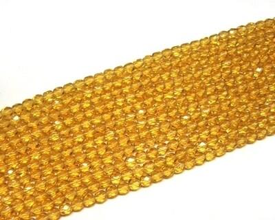 Cristalli ovali 4 mm Topazio medio